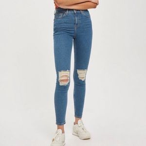 Topshop Jamie High Waist Ripped Jeans 30x30